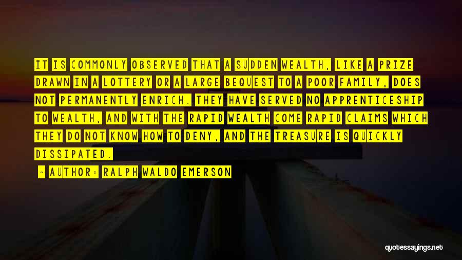 Knowledge Is Wealth Quotes By Ralph Waldo Emerson