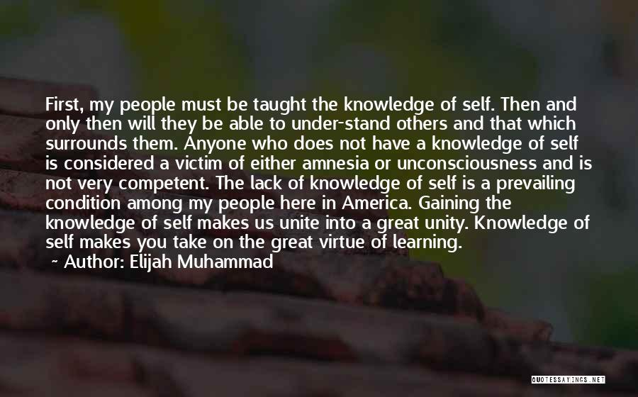 Knowledge Of Self Quotes By Elijah Muhammad