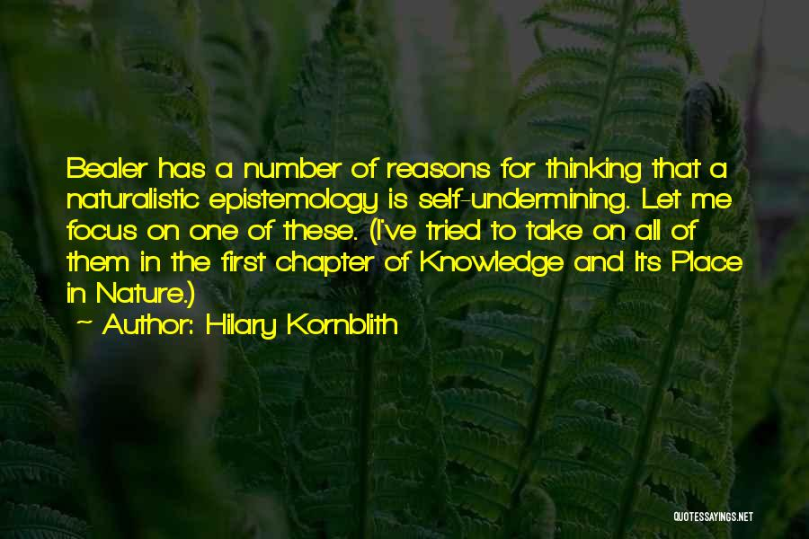Knowledge Of Self Quotes By Hilary Kornblith