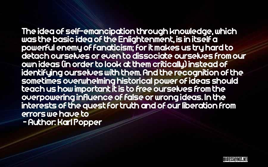 Knowledge Of Self Quotes By Karl Popper