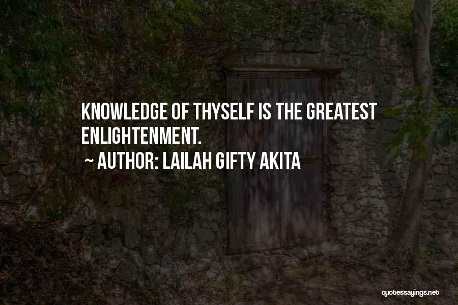 Knowledge Of Self Quotes By Lailah Gifty Akita