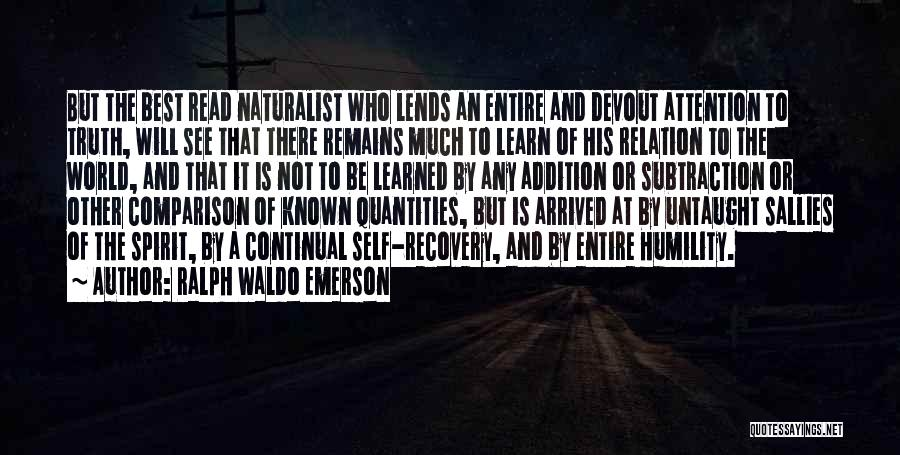 Knowledge Of Self Quotes By Ralph Waldo Emerson