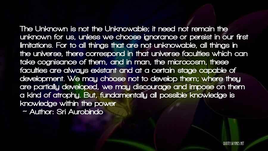 Knowledge Of Self Quotes By Sri Aurobindo