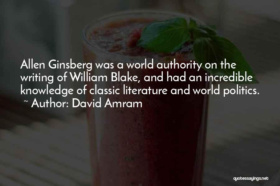 Knowledge Of The World Quotes By David Amram