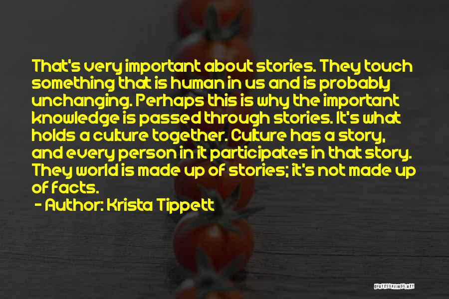 Knowledge Of The World Quotes By Krista Tippett