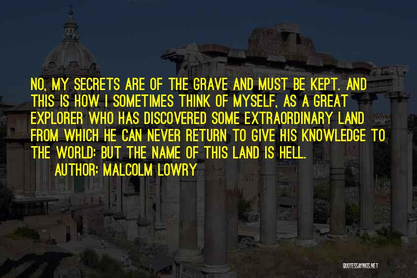 Knowledge Of The World Quotes By Malcolm Lowry