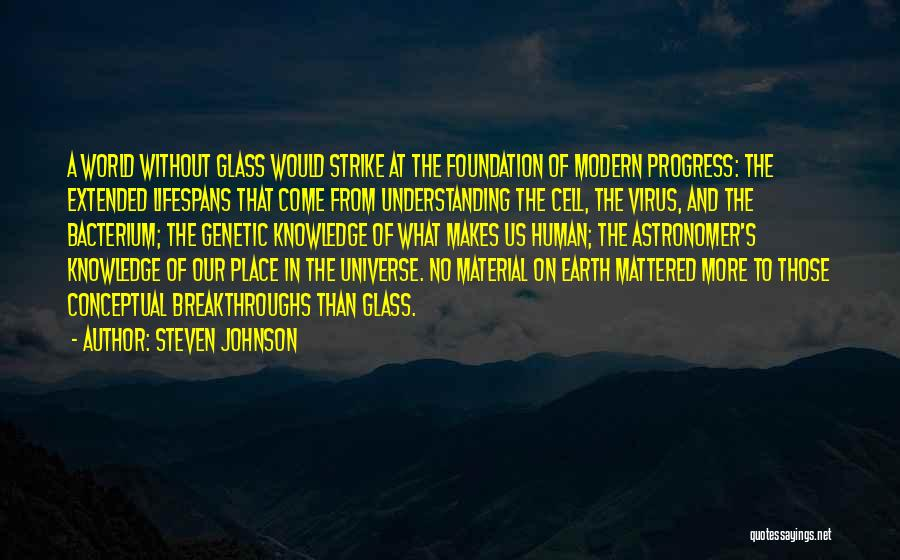 Knowledge Of The World Quotes By Steven Johnson