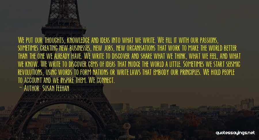 Knowledge Of The World Quotes By Susan Feehan