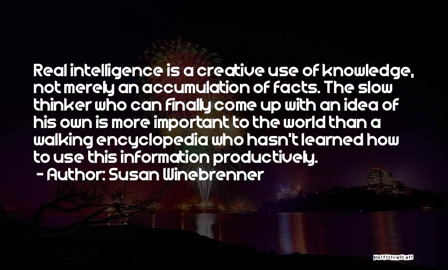 Knowledge Of The World Quotes By Susan Winebrenner