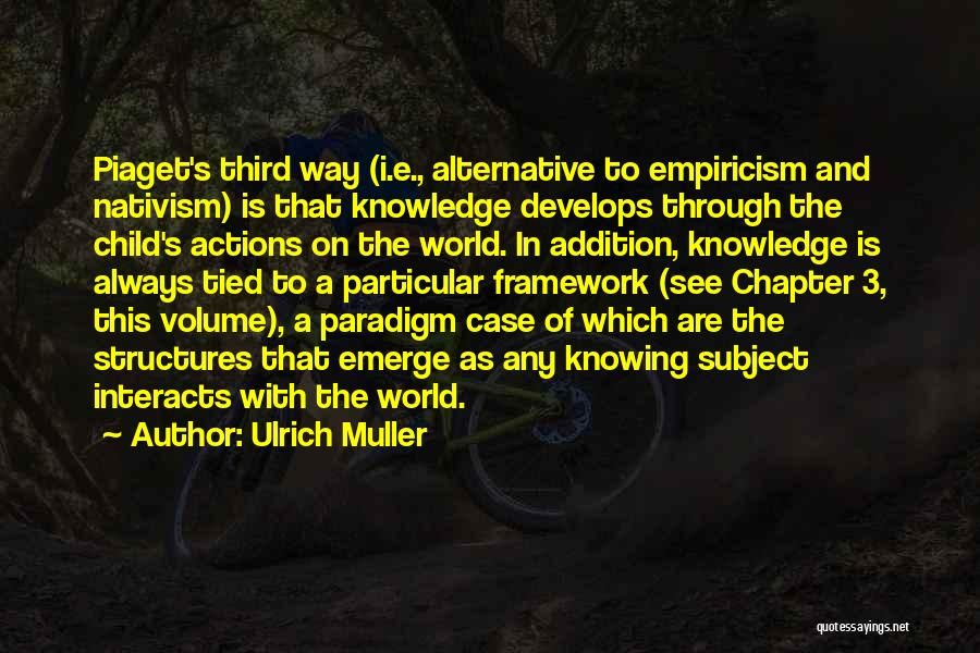 Knowledge Of The World Quotes By Ulrich Muller