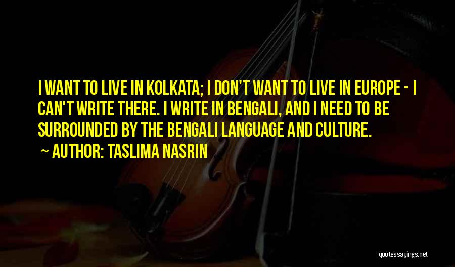 Kolkata Quotes By Taslima Nasrin