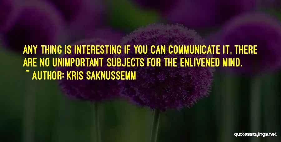 Kris Saknussemm Quotes 507144