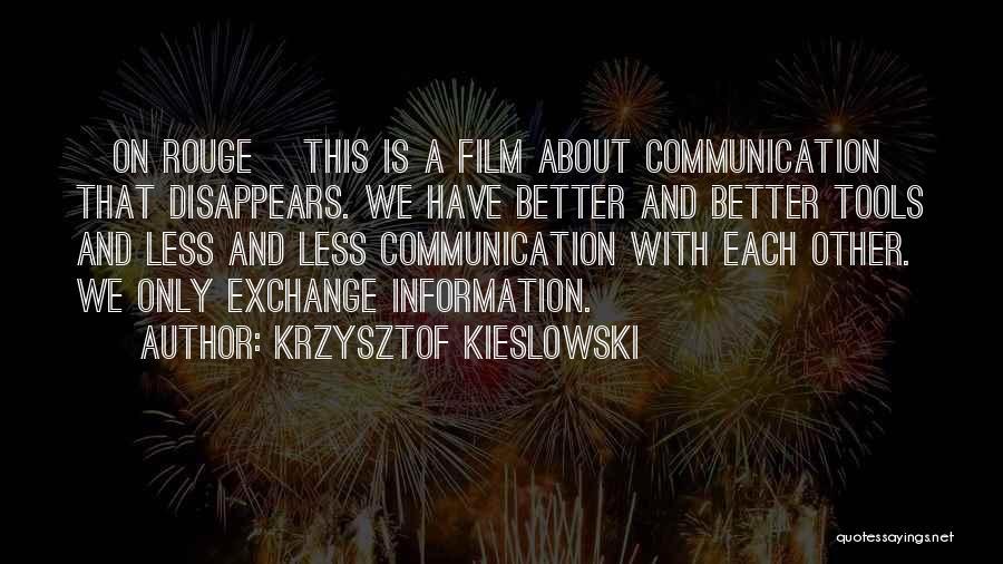 Krzysztof Kieslowski Quotes 1374640
