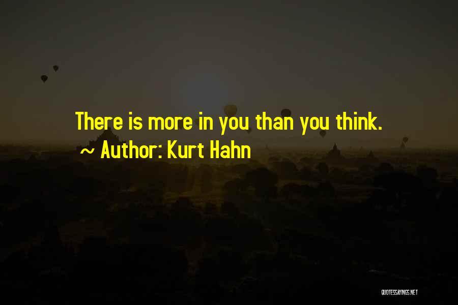 Kurt Hahn Quotes 555140