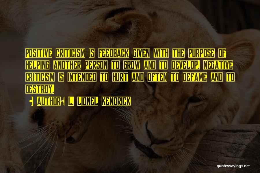 L. Lionel Kendrick Quotes 186934