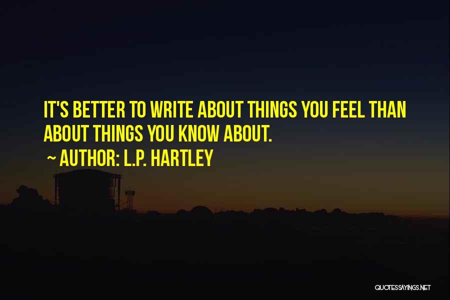L.P. Hartley Quotes 1219280