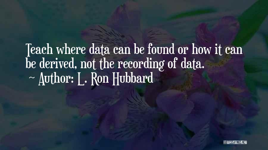 L. Ron Hubbard Quotes 1000106