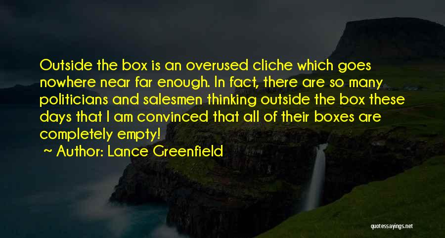 Lance Greenfield Quotes 1963107