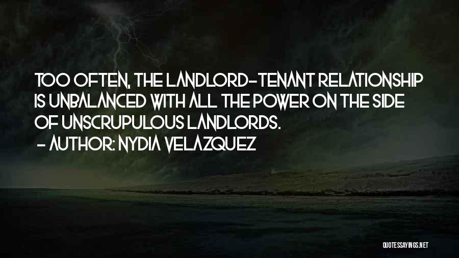 Landlord Tenant Quotes By Nydia Velazquez