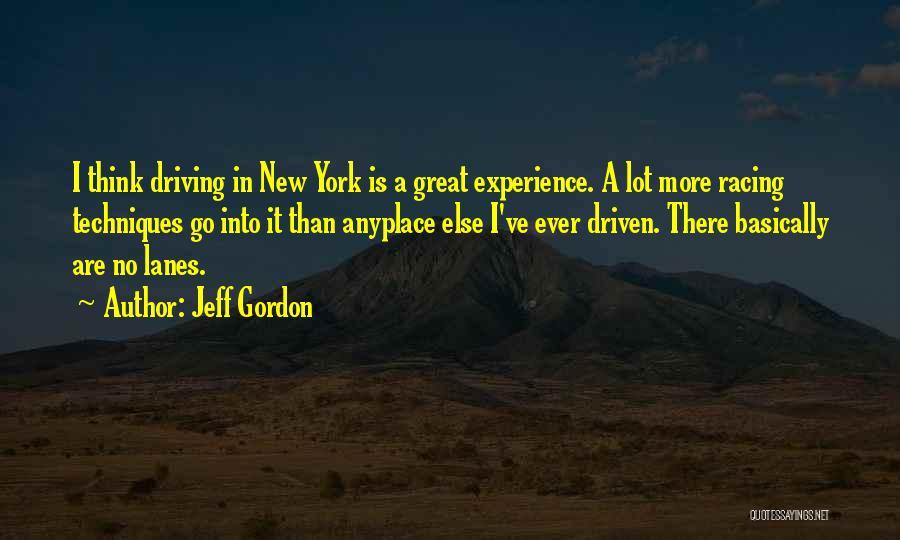 Lanes Quotes By Jeff Gordon