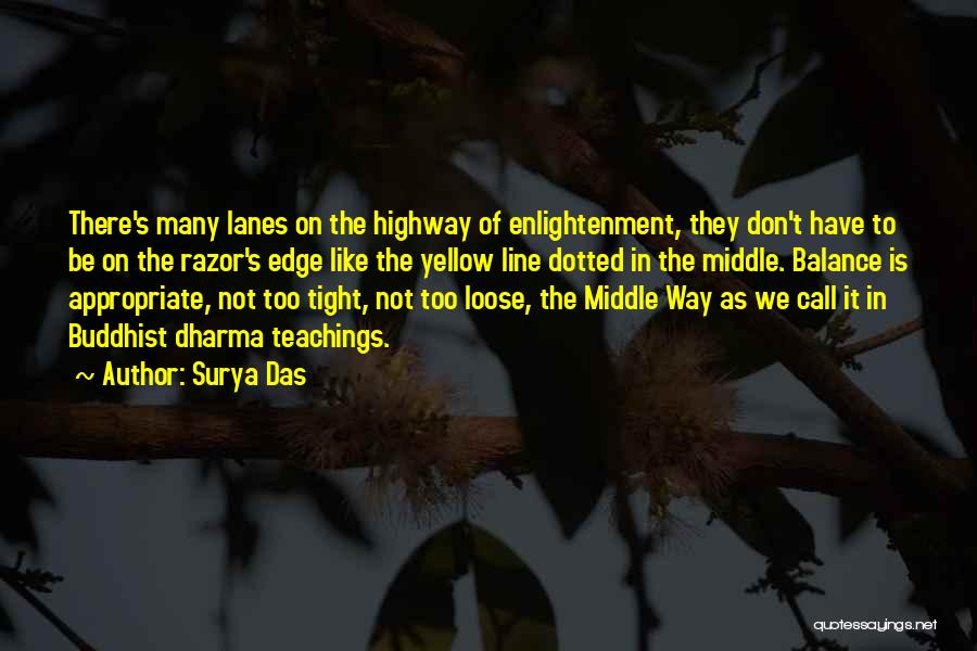 Lanes Quotes By Surya Das