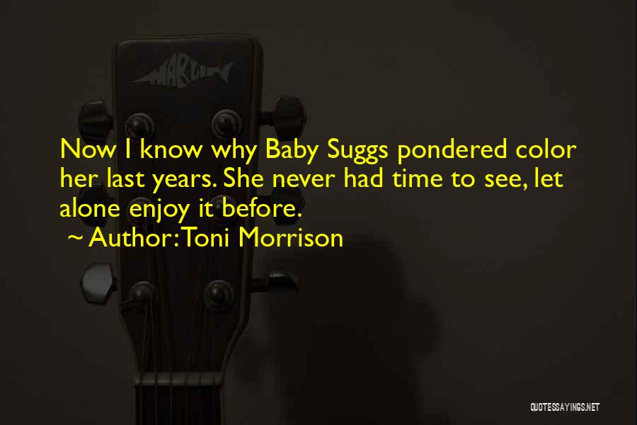 Last Baby Quotes By Toni Morrison