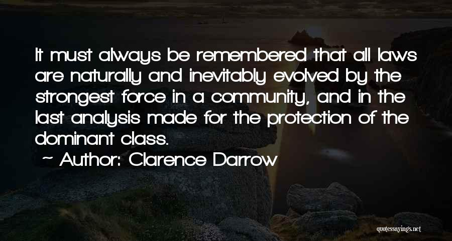 Last Class Quotes By Clarence Darrow