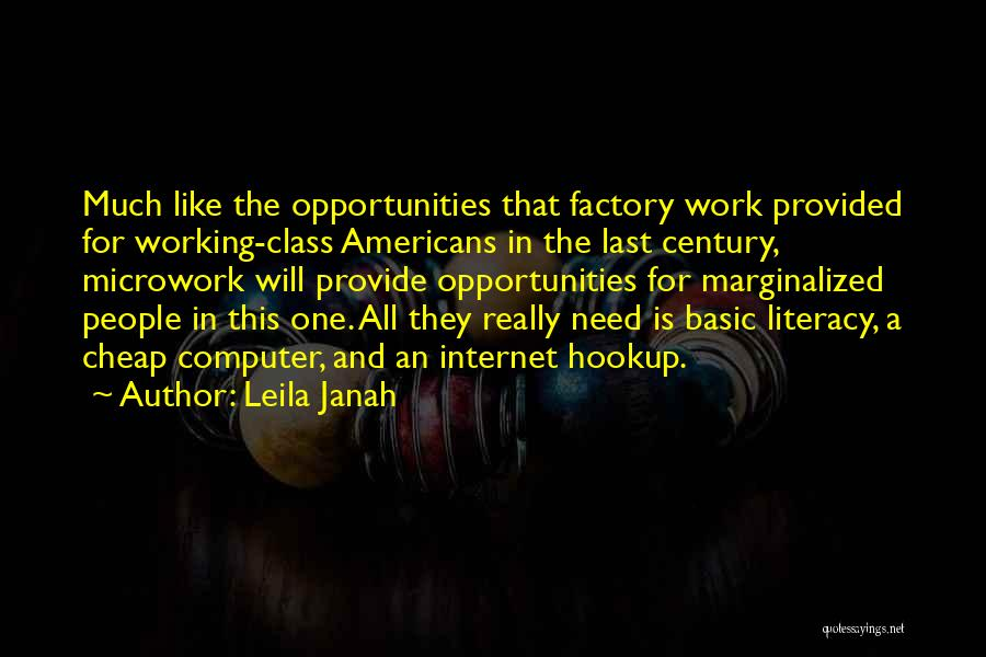 Last Class Quotes By Leila Janah