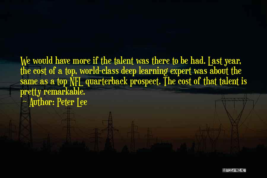 Last Class Quotes By Peter Lee