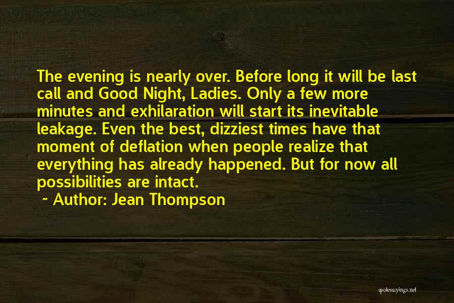 Last Minutes Quotes By Jean Thompson