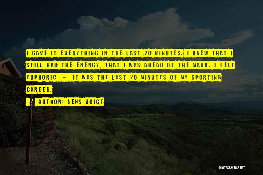 Last Minutes Quotes By Jens Voigt