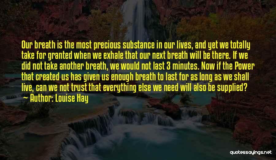 Last Minutes Quotes By Louise Hay