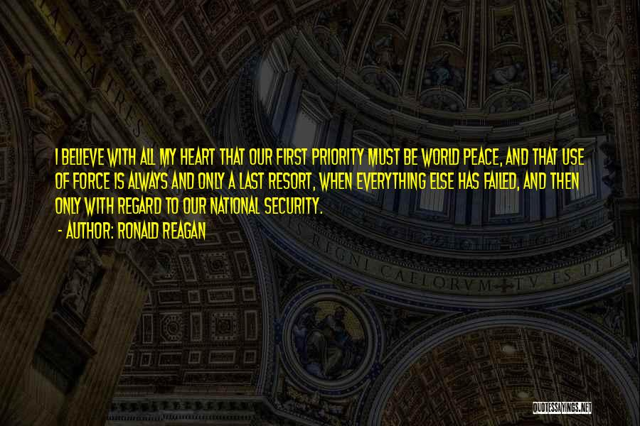 Last Priority Quotes By Ronald Reagan