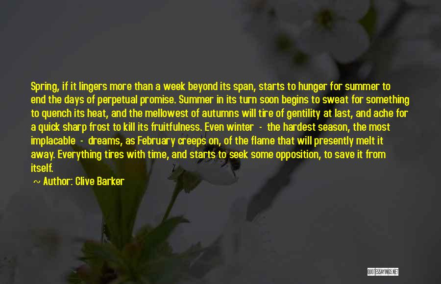 Last Week Of Summer Quotes By Clive Barker