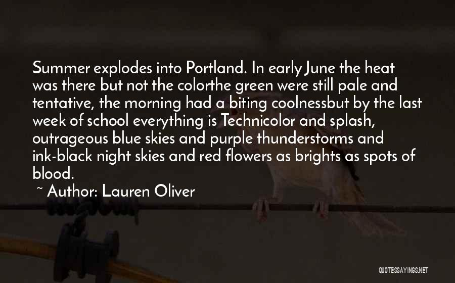 Last Week Of Summer Quotes By Lauren Oliver