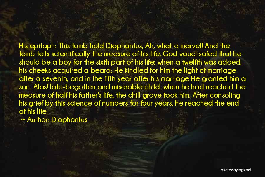 Late Marriage Quotes By Diophantus
