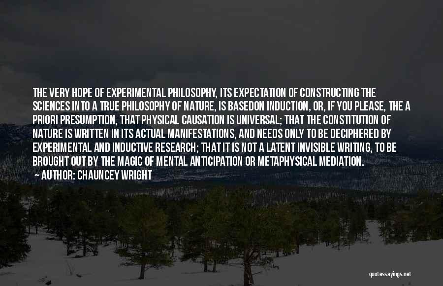 Latent Quotes By Chauncey Wright