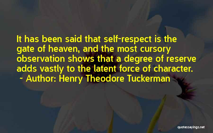 Latent Quotes By Henry Theodore Tuckerman