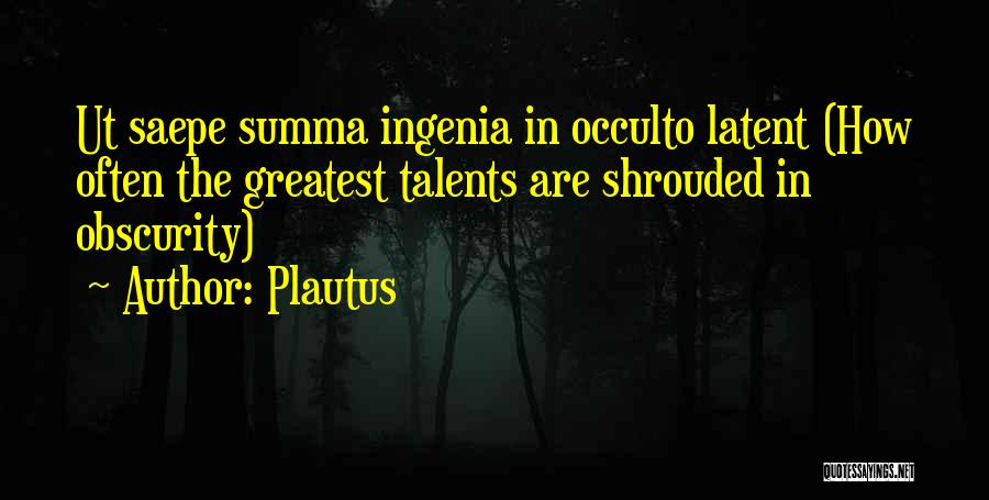 Latent Quotes By Plautus