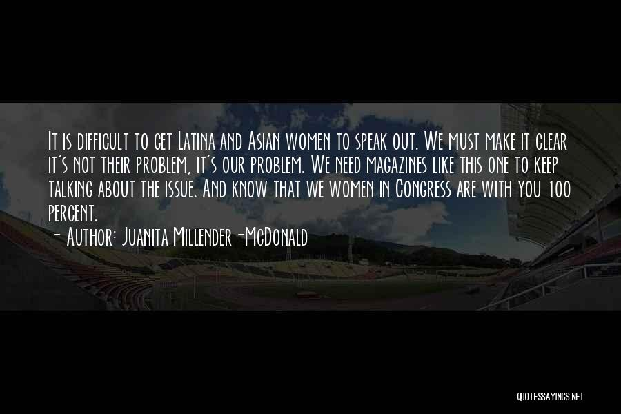 Latina Quotes By Juanita Millender-McDonald