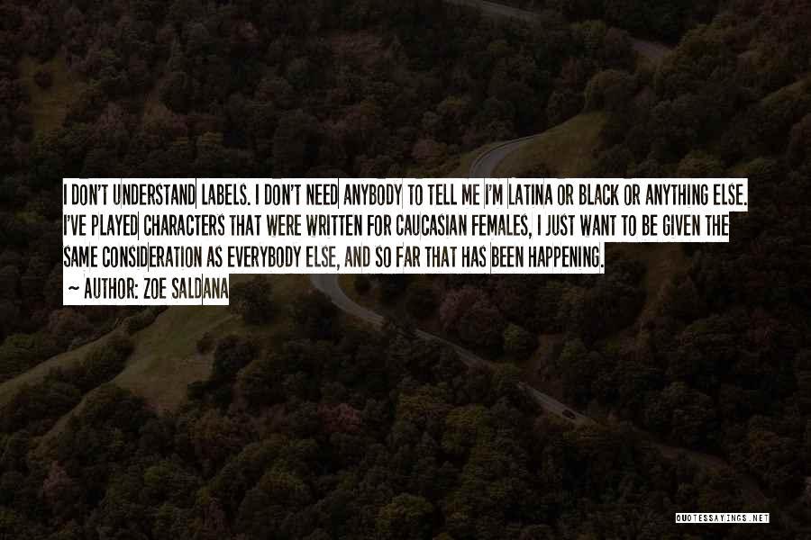 Latina Quotes By Zoe Saldana