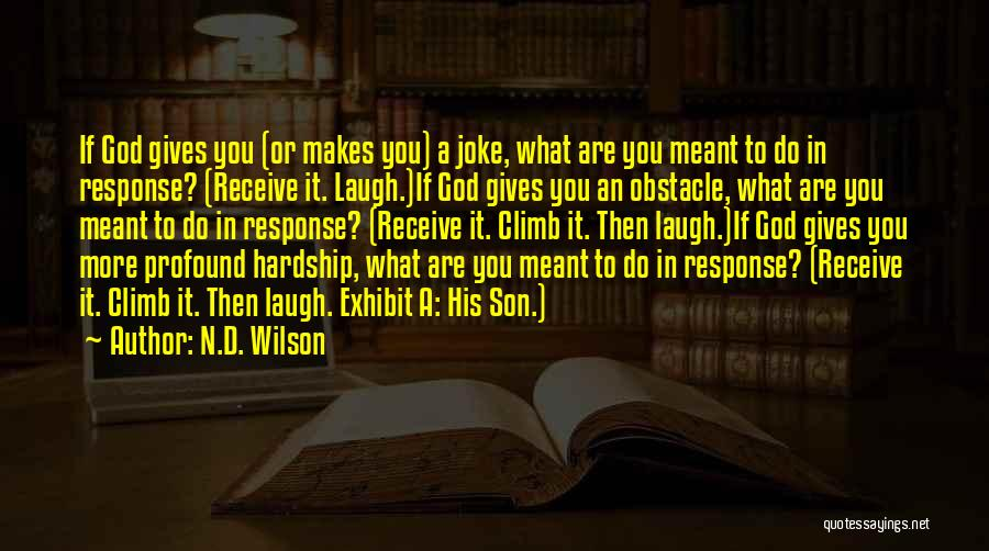 Laugh Quotes By N.D. Wilson