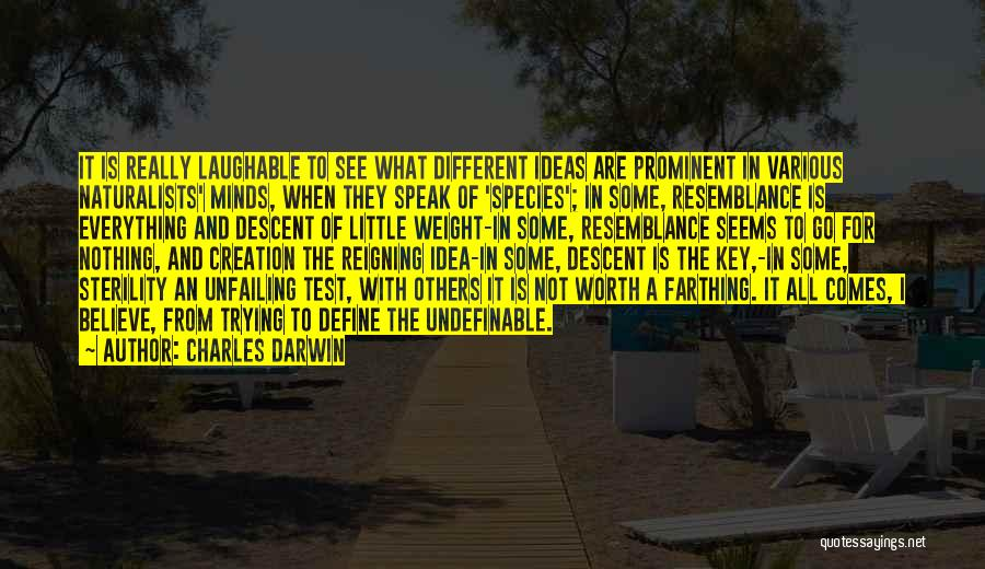 Laughable Quotes By Charles Darwin