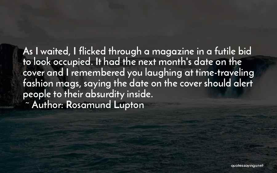 Laughing With Your Sister Quotes By Rosamund Lupton