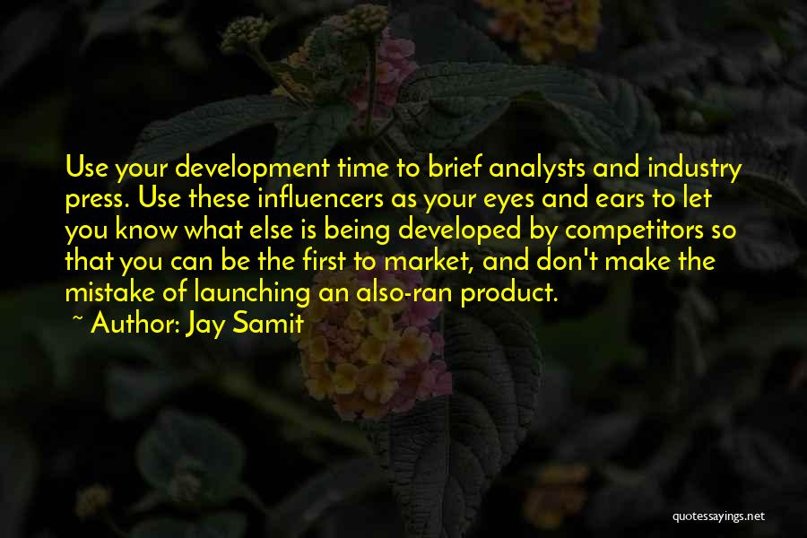 Launching A Product Quotes By Jay Samit
