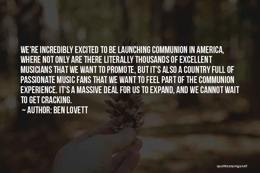 Launching Quotes By Ben Lovett