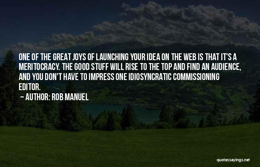 Launching Quotes By Rob Manuel