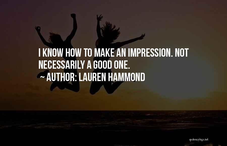 Lauren Hammond Quotes 1858695
