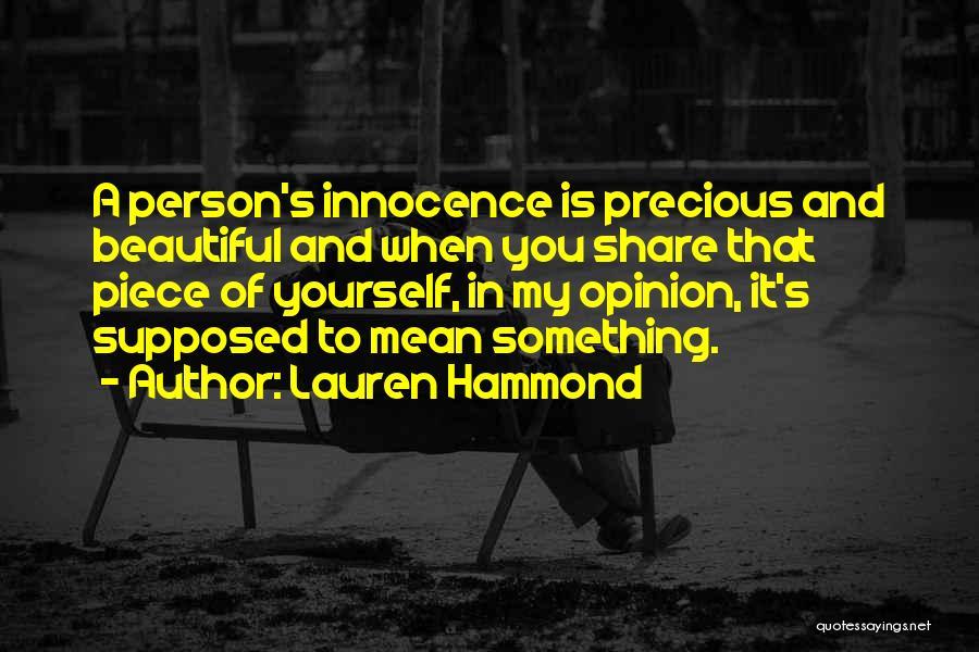 Lauren Hammond Quotes 78428