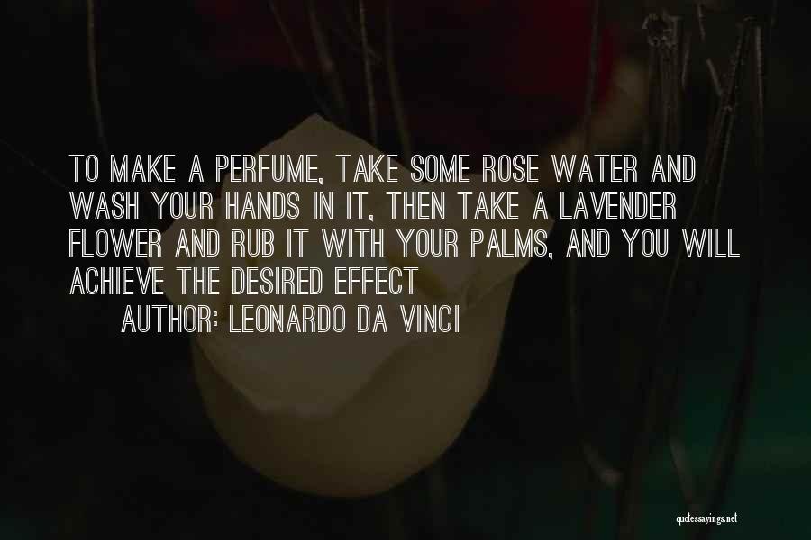 Lavender Rose Quotes By Leonardo Da Vinci